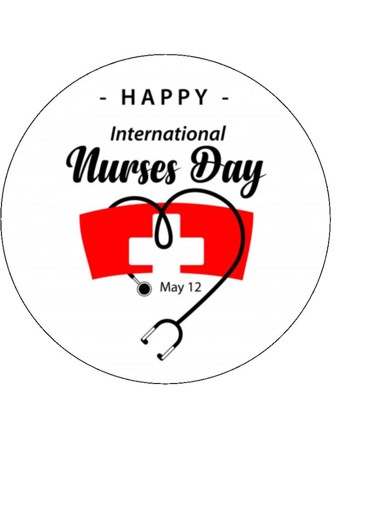 International Nurses Day - Design 2 -  edible cake/cupcake toppers