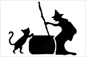 Halloween Witch's Cat Edible Cake & Cupcake Toppers