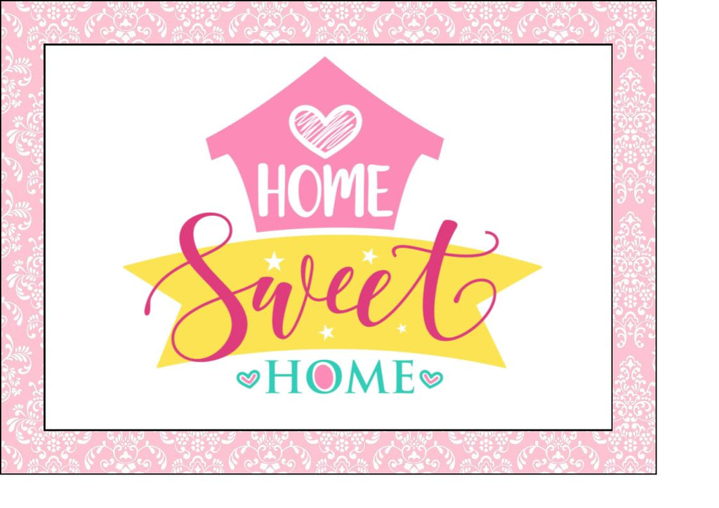 Happy New Home - Design 2 - edible cake/cupcake toppers