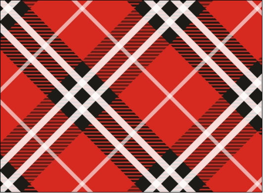 Tartan - Red, White & Black - edible prints/cake/cupcake toppers