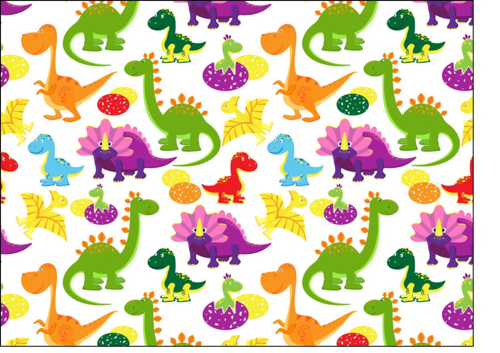 Dinosaur Fondant Sheet (great for cookies and wrapping around a cake)