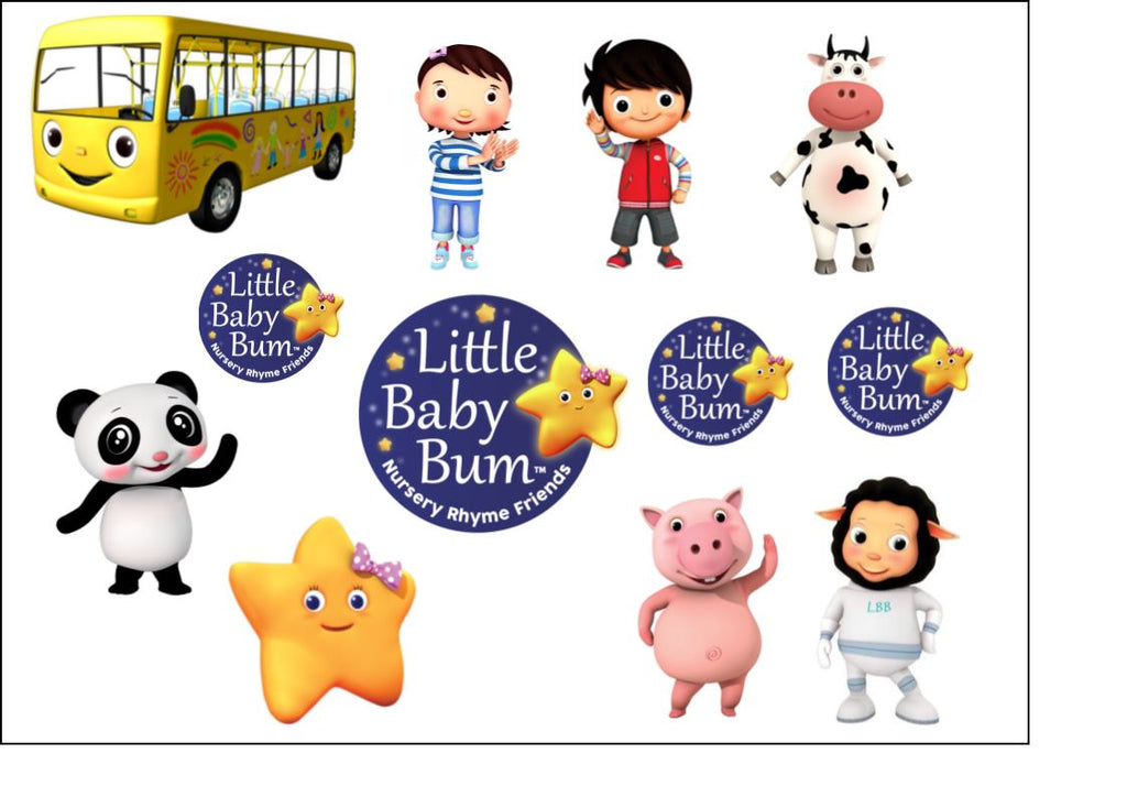 Little Baby Bum Cake & Cupcake Toppers