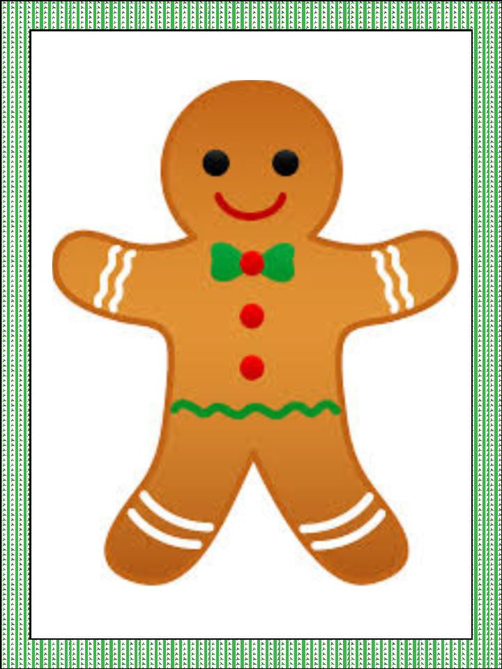 christmas gingerbread man cupcake and cake toppers - Christmas Gingerbread Man