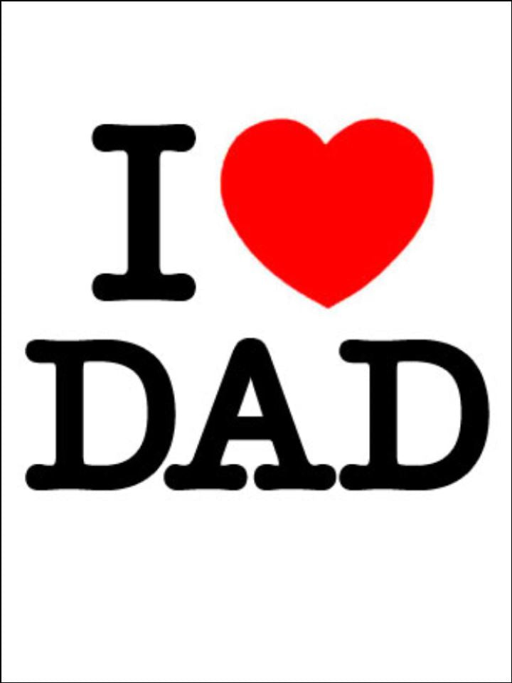 Father S Day I Love Dad Edible Cake Cupcake Toppers Incredible Cake Toppers