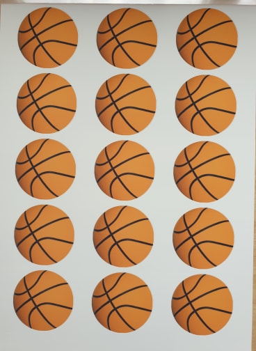 Basketball Edible Cake & Cupcake Toppers