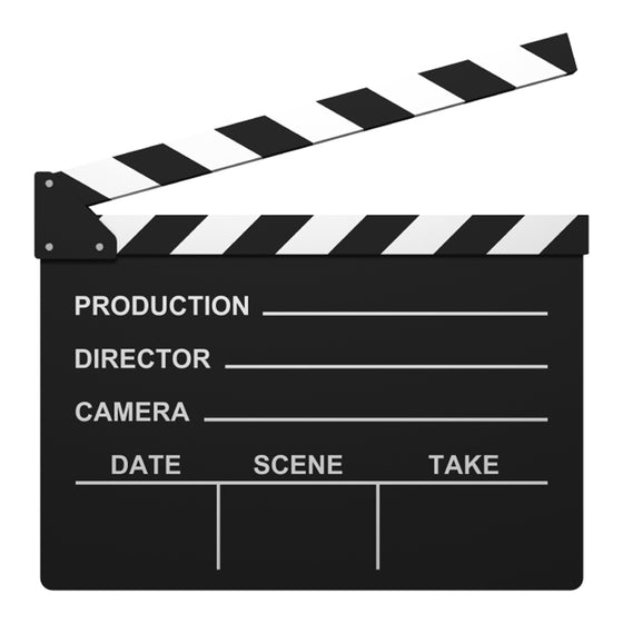 Clapperboard (edible and non-edible version)