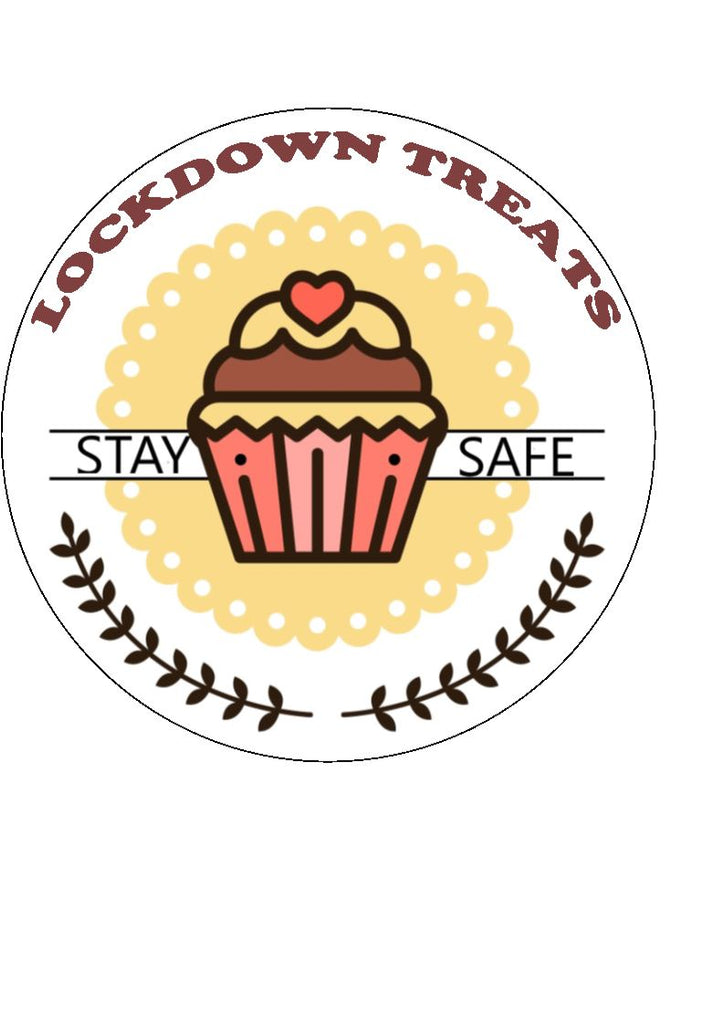 Lockdown Treats - edible cake/cupcake toppers