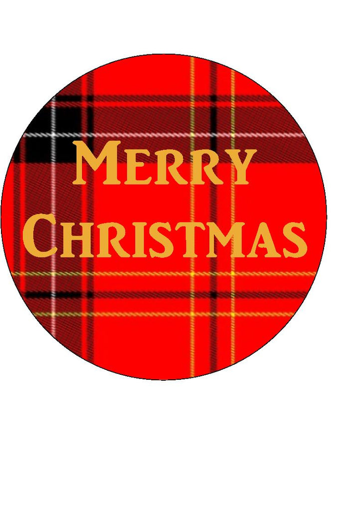 Christmas Tartan Cupcake and Cake Toppers