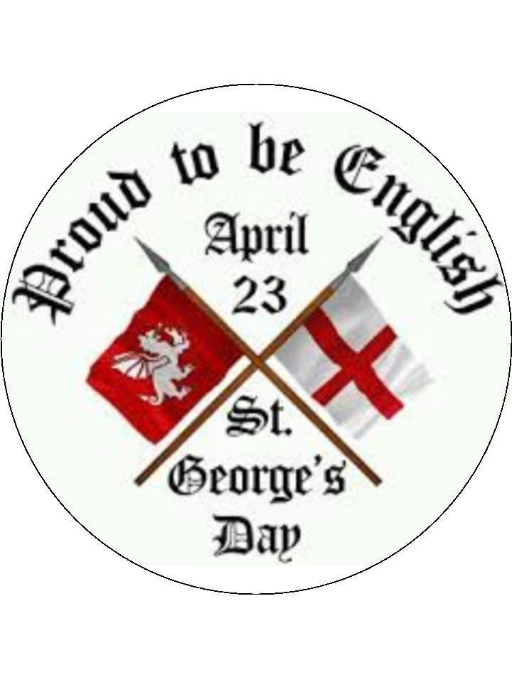 St George's Day 23 March Edible Cake & Cupcake Toppers