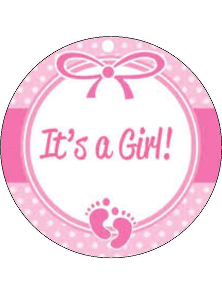 It S A Girl Edible Cake Amp Cupcake Toppers Incredible