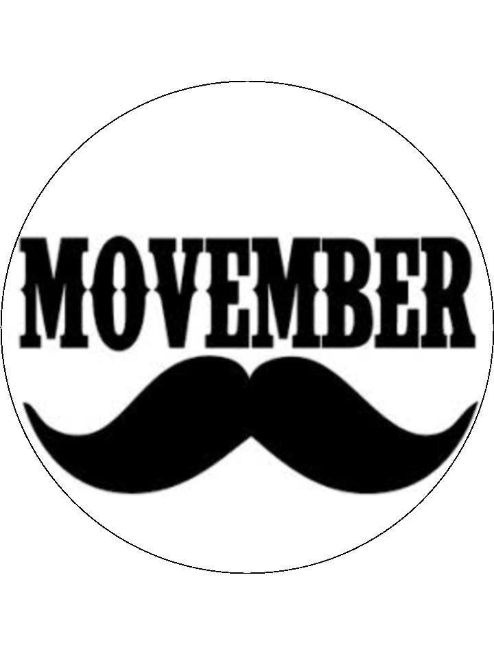 Movember Edible Cake & Cupcake Toppers