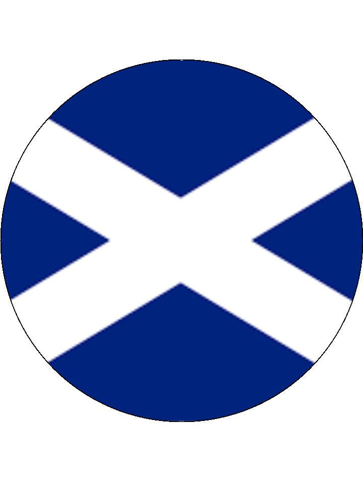 Scotland Edible Cake & Cupcake Toppers