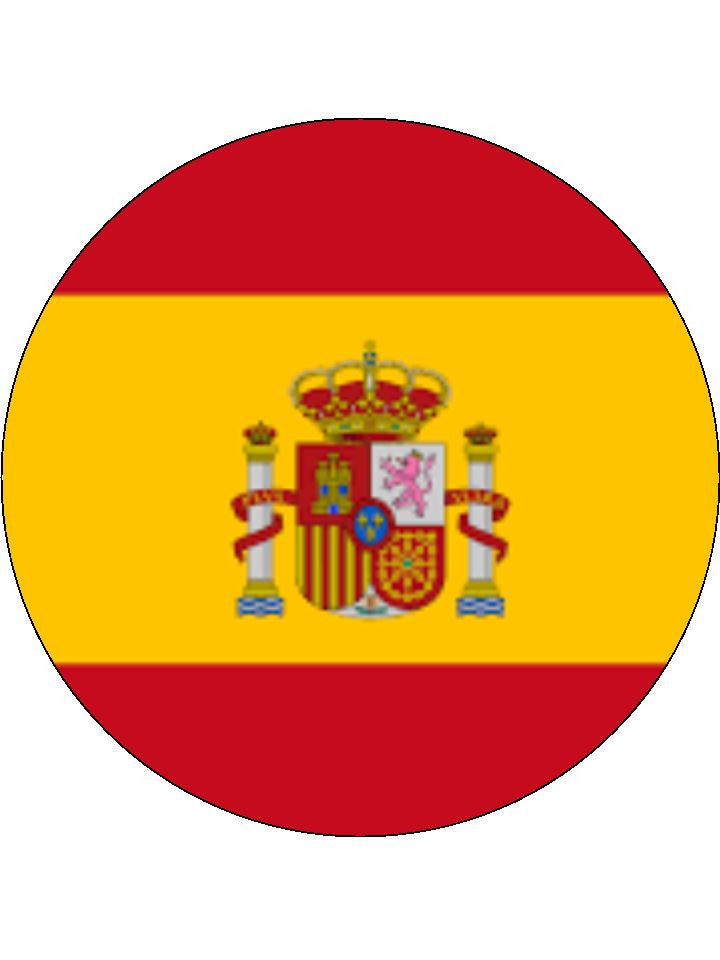 Spain Edible Cake & Cupcake Toppers