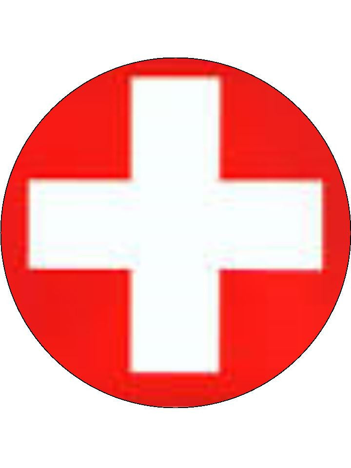 Switzerland Edible Cake & Cupcake Toppers