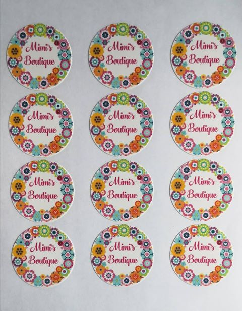 Flowery Brights Cake and Cupcake Toppers - Can add text/Photo - Great for Hen Parties too!