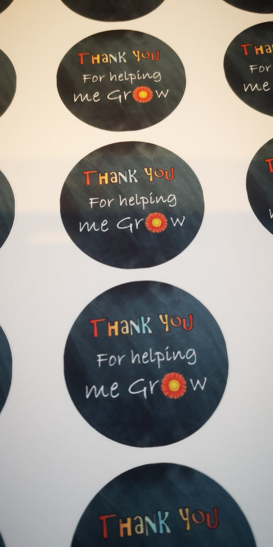 Thank you for making me grow -  Teacher Edible Cupcake Toppers