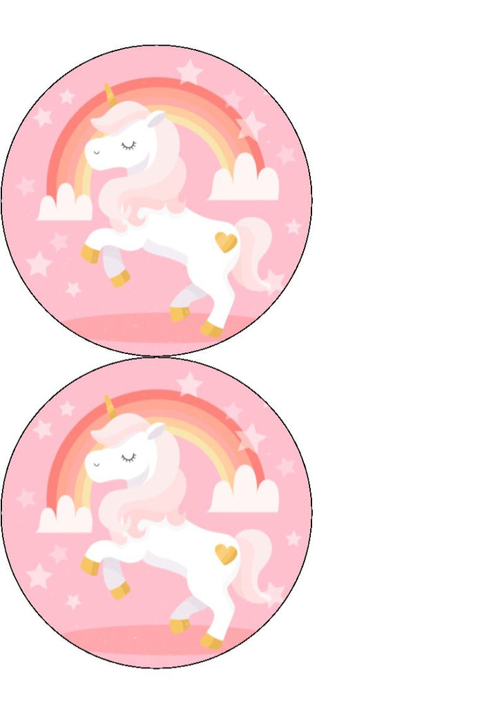 Unicorns - Design 3 - Edible Cake/Cupcake Toppers
