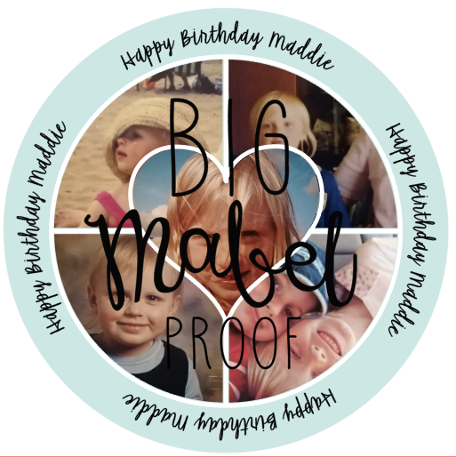 PERSONALISED PHOTO HAPPY BIRTHDAY EDIBLE CAKE TOPPER