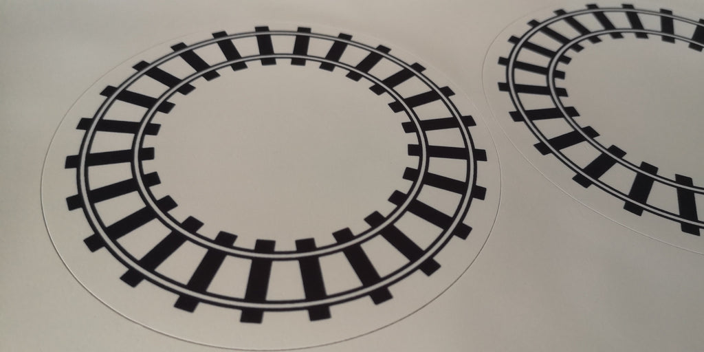 Train and Train Track Cake Topper - Available as edible or non-edible
