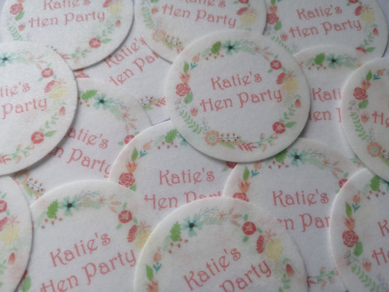 Hen Party Personalised Edible Cake & Cupcake Toppers