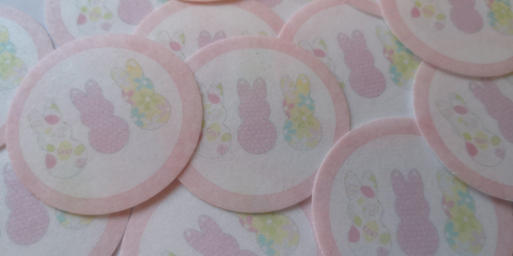 Easter Pastel Bunny Edible Cupcake and Cake Toppers