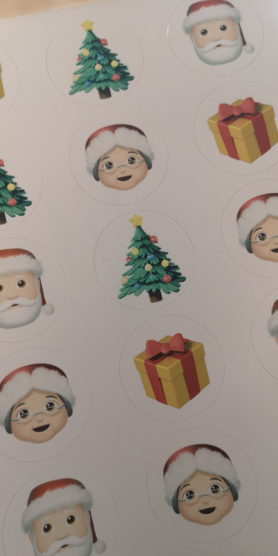 Christmas Mix 2 Edible Cupcake Toppers