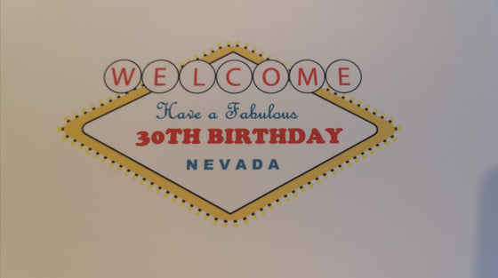 Edible Las Vegas Birthday Cake Topper - Personalise