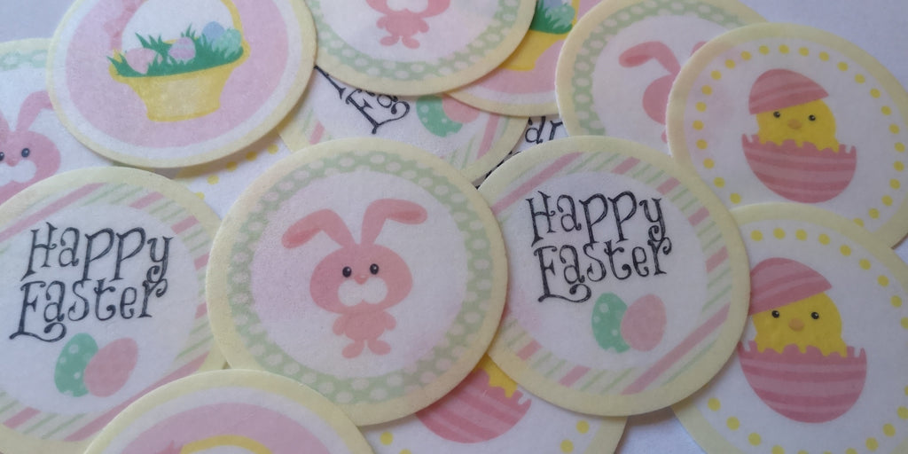 Easter Mix Edible Cupcake and Cake Toppers