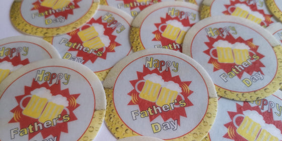 Father's Day Beer Edible Cake & Cupcake Toppers
