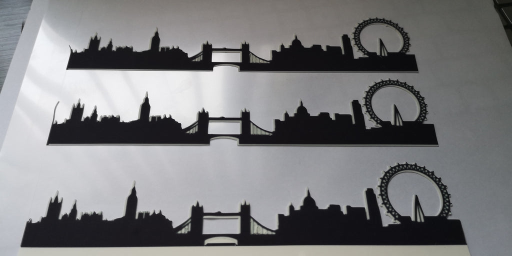 London Scene - Black Silhouette A4 Icing Sheets