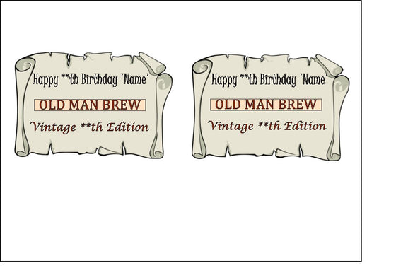 Personalised Beer Labels