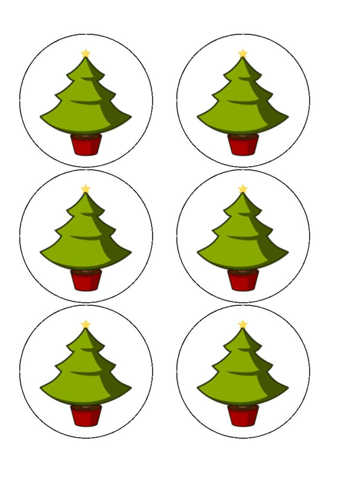Christmas Tree Cocktail Toppers