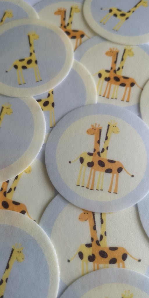 Cute Giraffe - edible cake/cupcake toppers