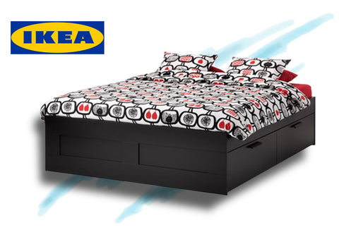 IKEA Brimnes queen bed frame with storage in the Amsterdam 34