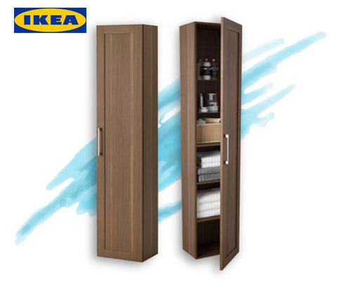 IKEA linen high cabinet in oak effect for Wayfarer