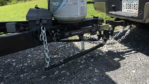 Weight distributing hitch Transcend Tiny Homes
