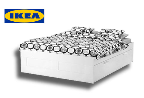 IKEA BRIMNES queen bed frame with storage in the Amsterdam 34 ...