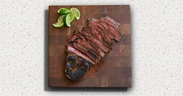 Steak sliced for fajitas