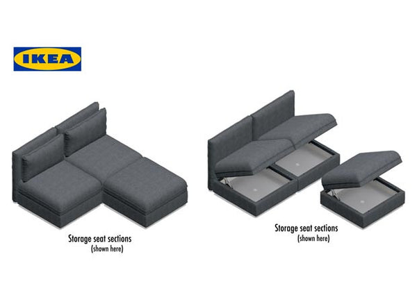 IKEA Vallentuna seating group open and closed