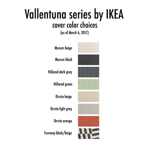 IKEA Vallentuna seating group color choices