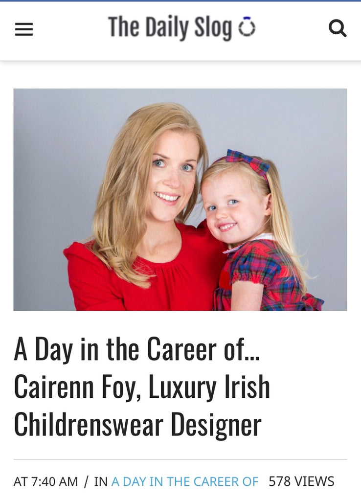 'The Daily Slog'. A day in the Career of... Cairenn Foy