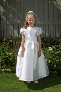 Daniella White Silk Girls Communion Dress