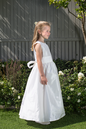 Kate White Silk Girls Communion Dress