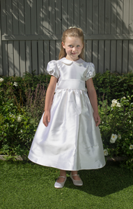 Lauren Silk White Girls Communion Dress