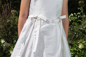 Ciara White Silk Girls Communion Dress