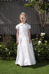 Colette White Silk Girls Communion Dress