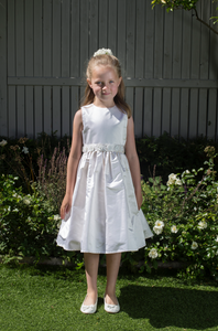Shelly Silk Girls Communion Dress