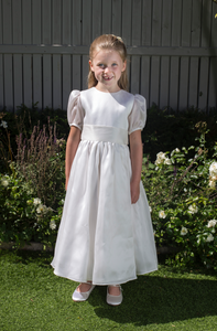 Siobhan White Silk Girls Communion Dress