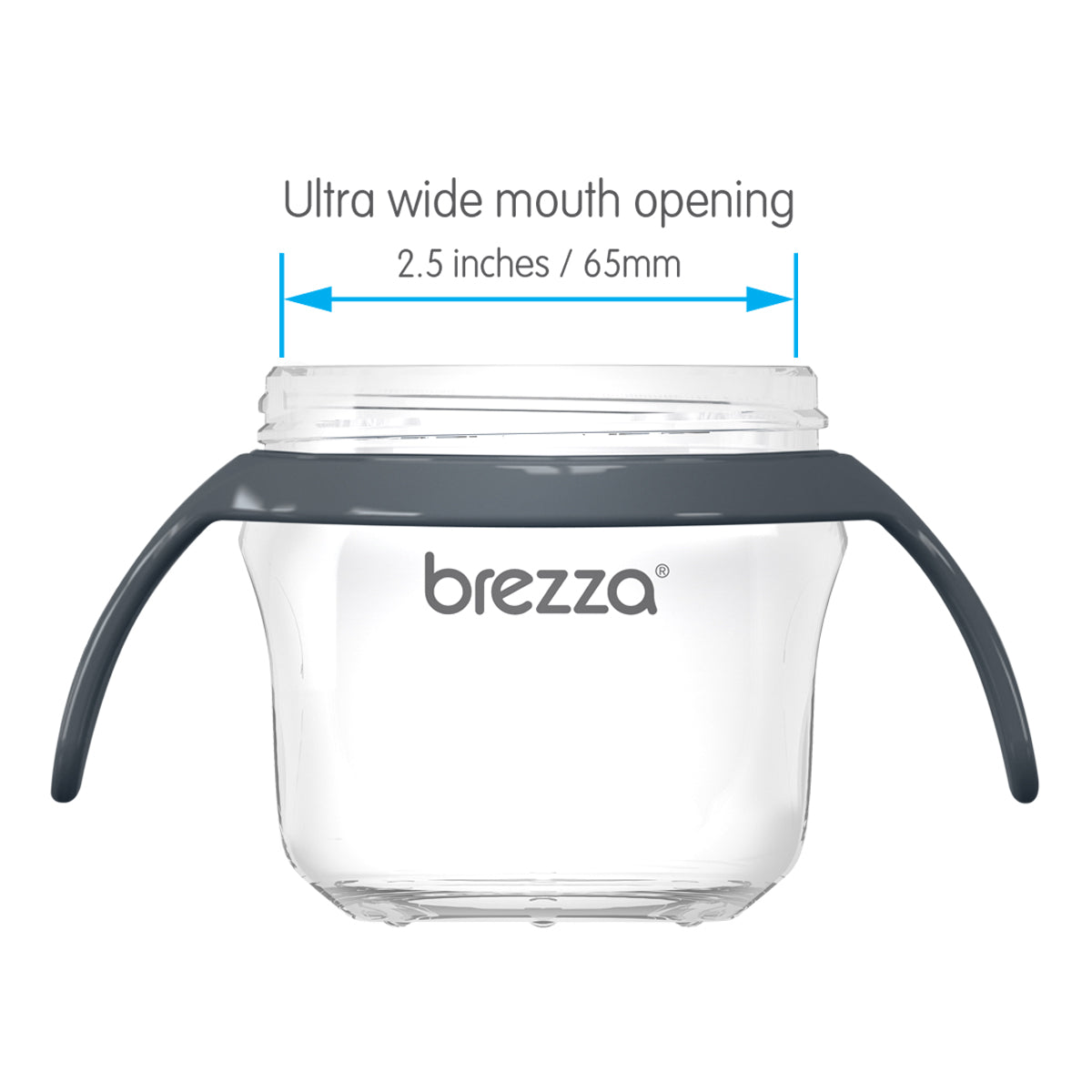 Easier to clean with ultra wide mouth
