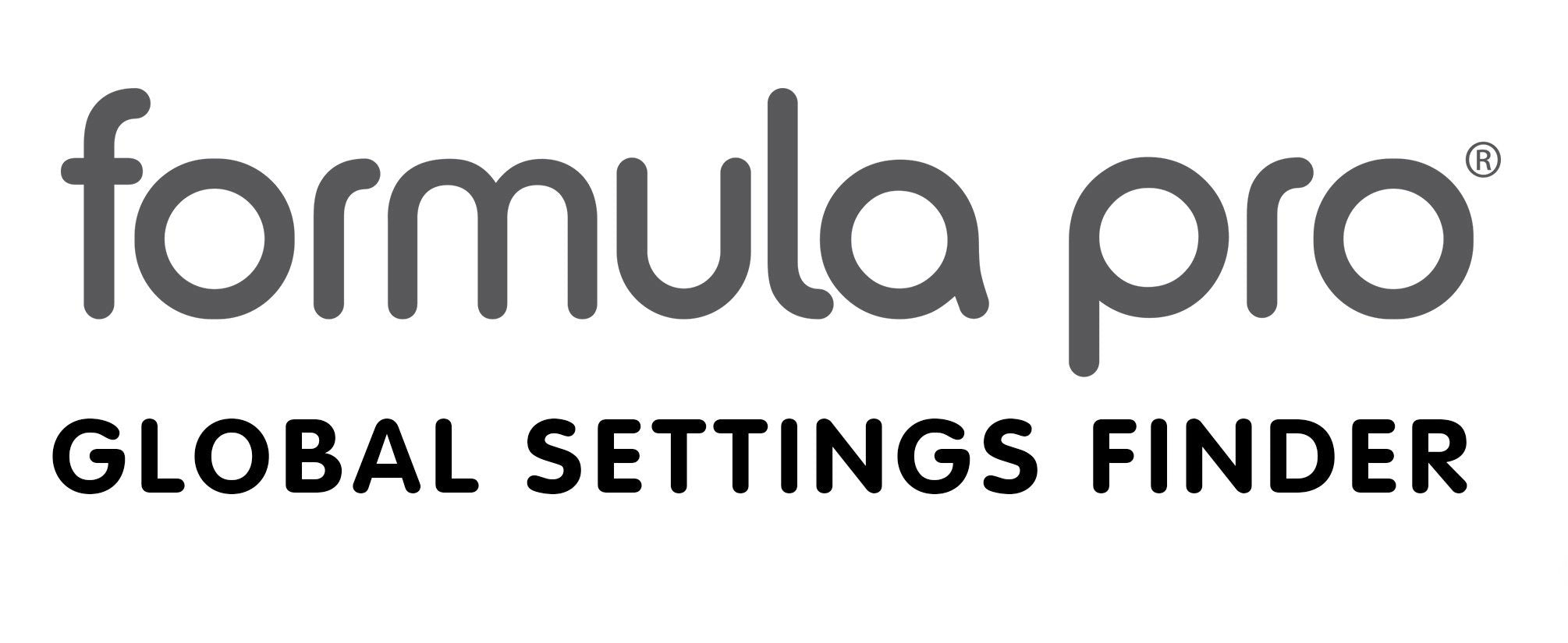 Formula Pro Global Settings Finder